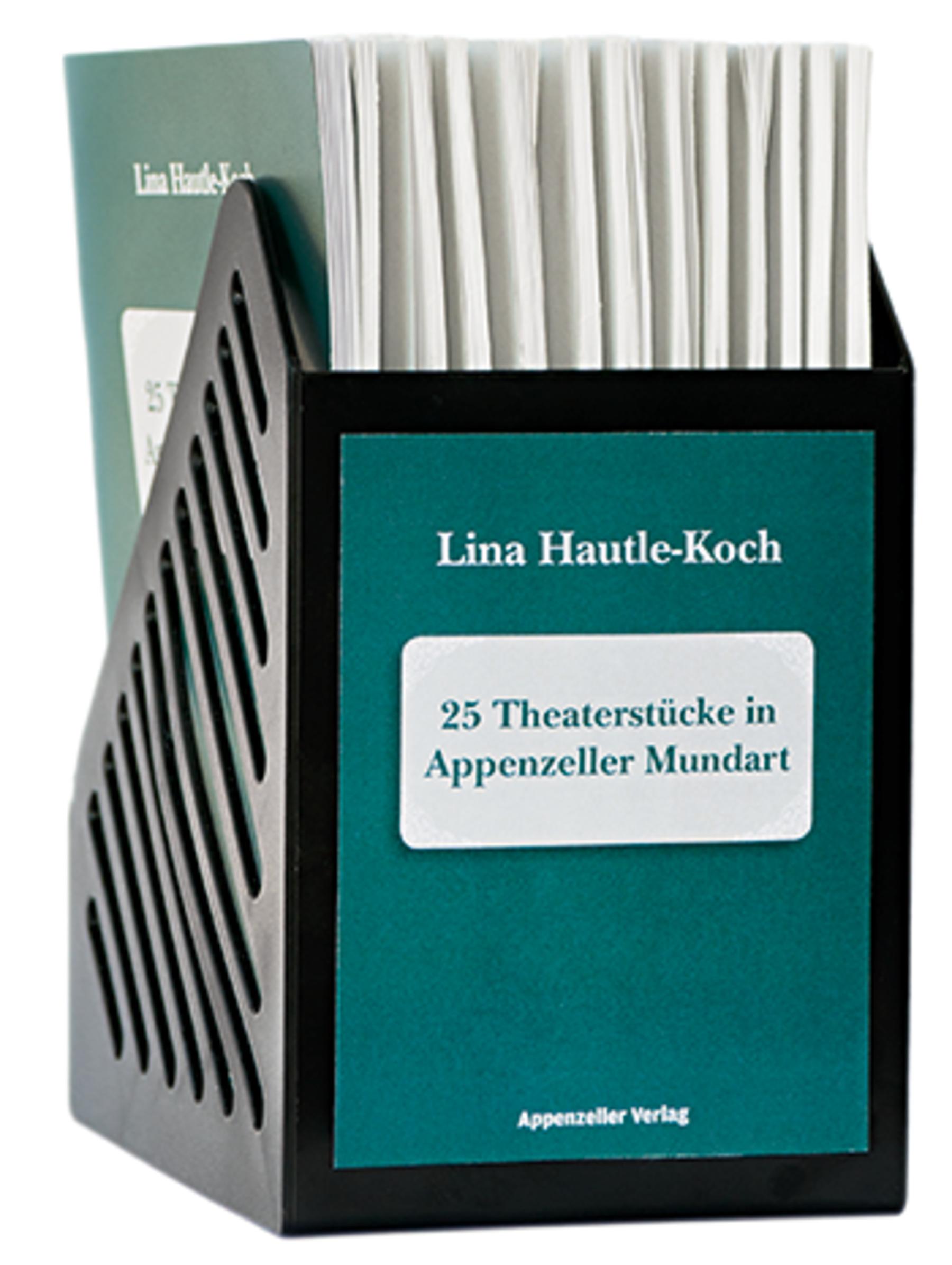 25 Theaterstücke in Appenzeller Mundart