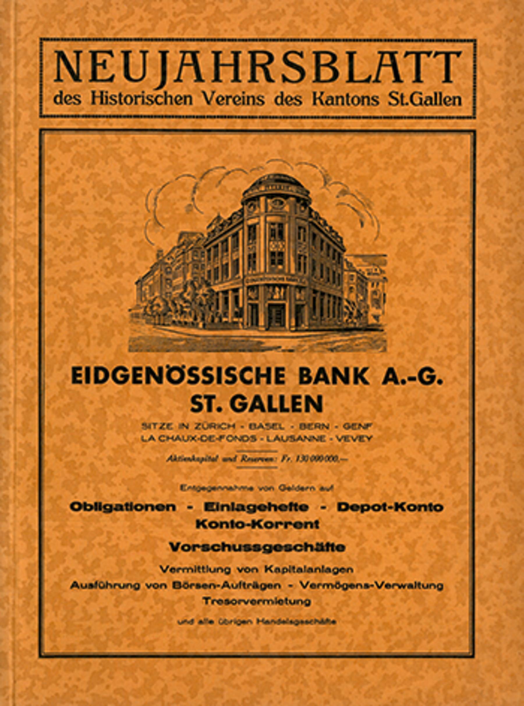Eidgenössische Bank A.-G. St. Gallen