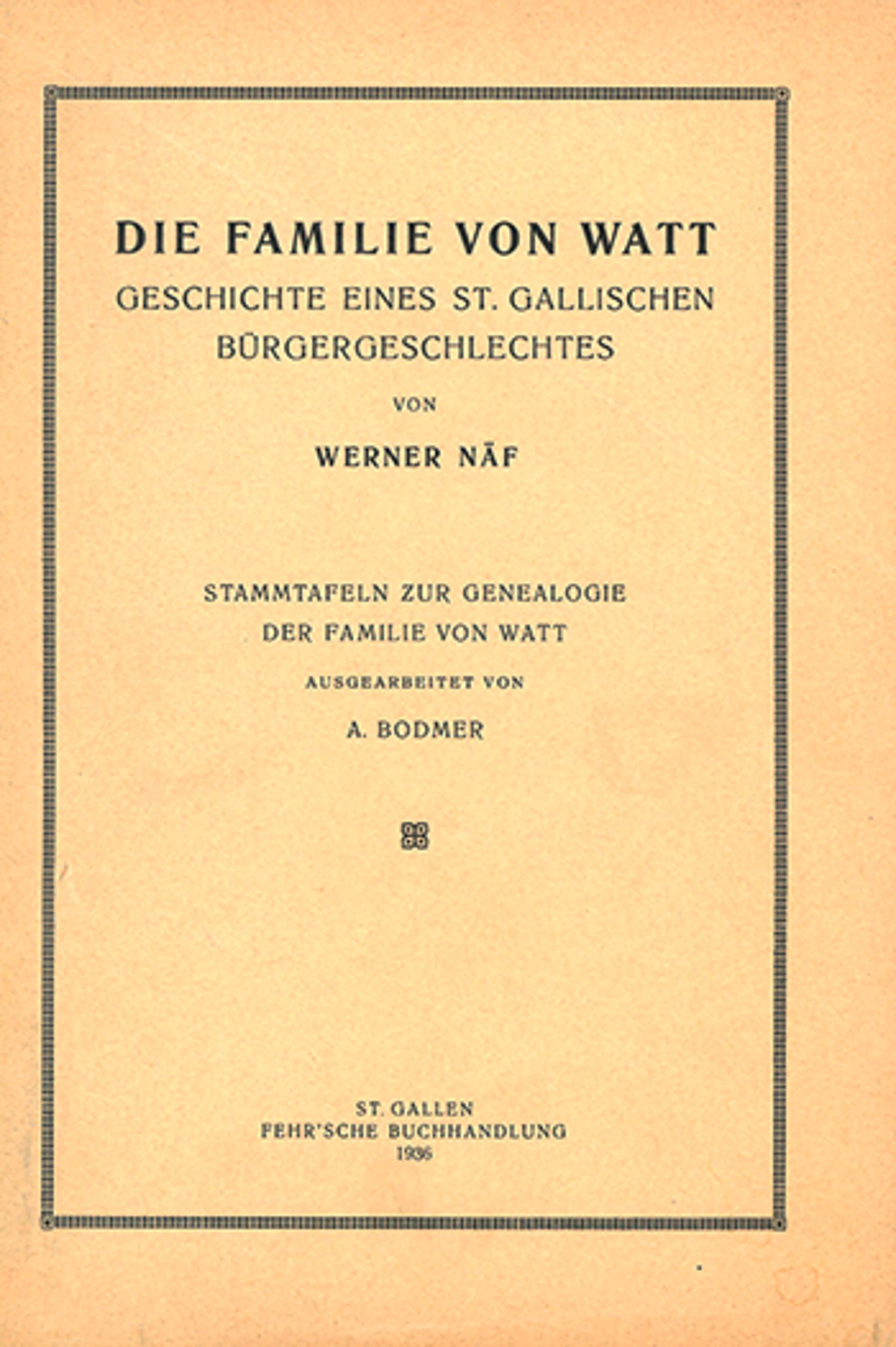 Die Familie von Watt