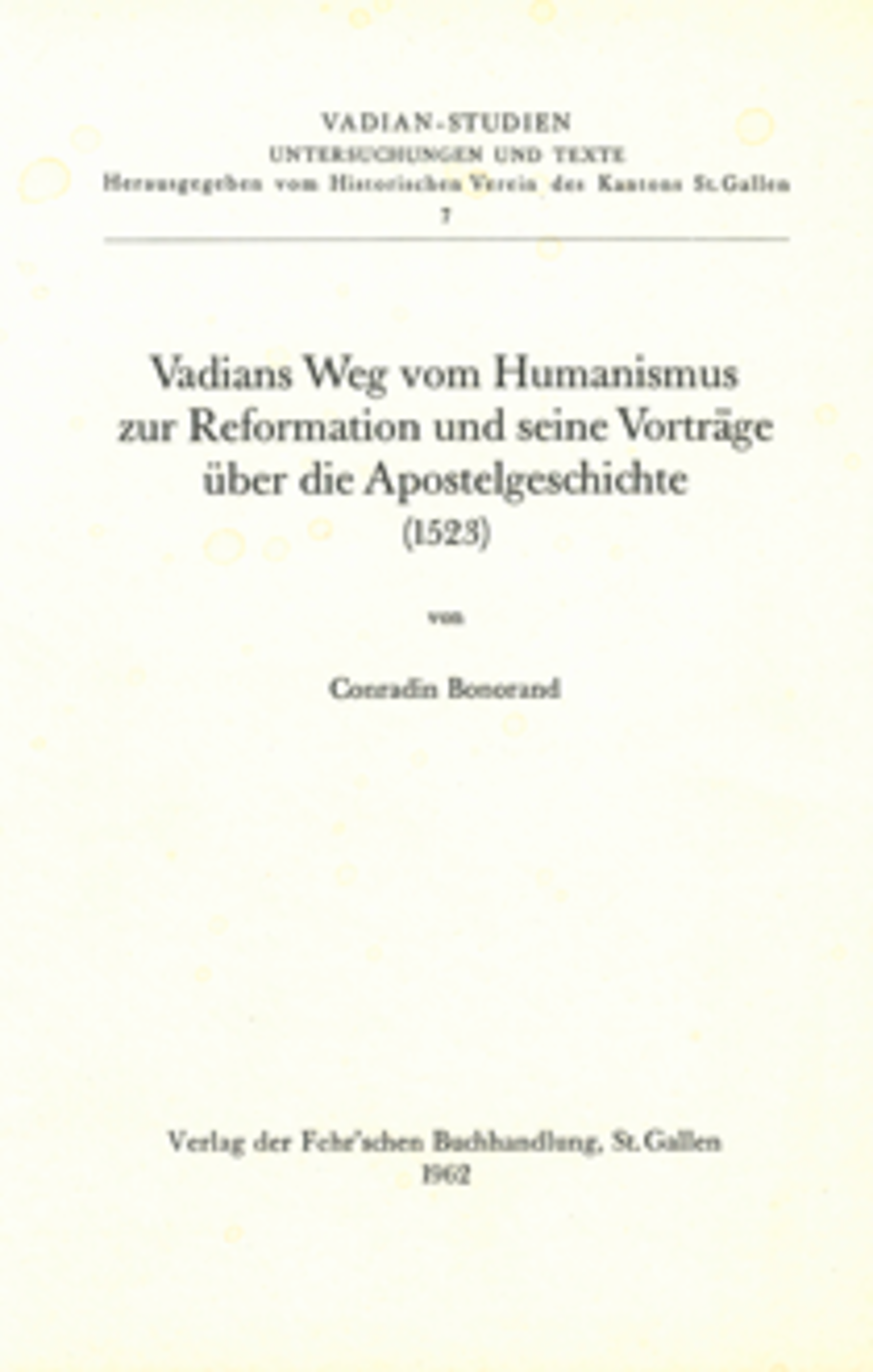 <p><p>zur Reformation und seine Vorträge über die Apo