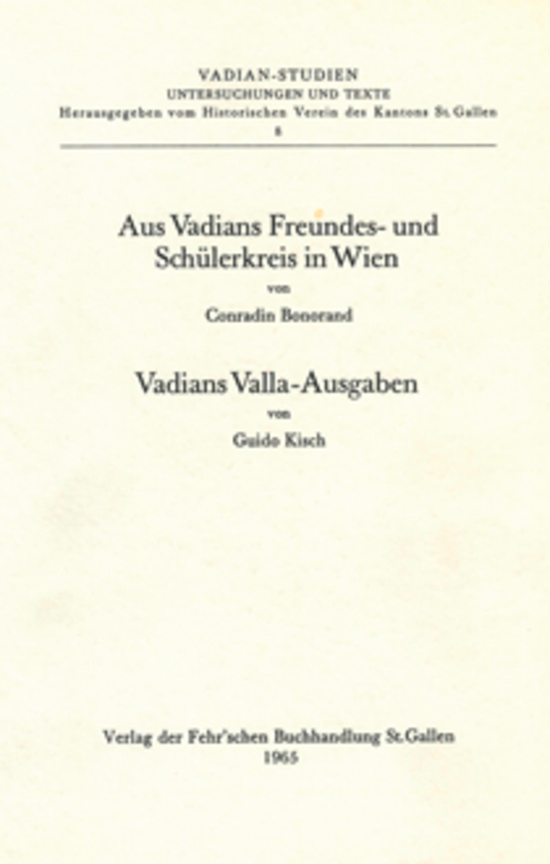 <p><p>Vadians Valla-Ausgaben