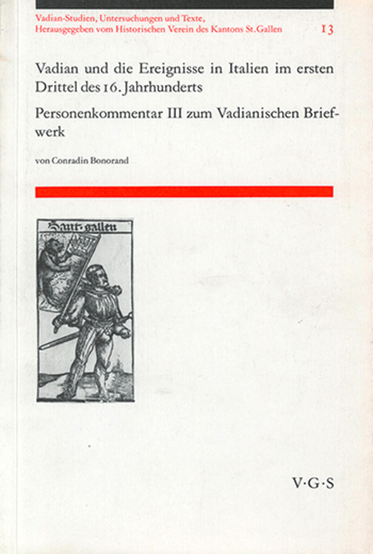 Vadian und die Ereignisse in Italien <p><p>im ersten Drittel des 16. Jahrhundert