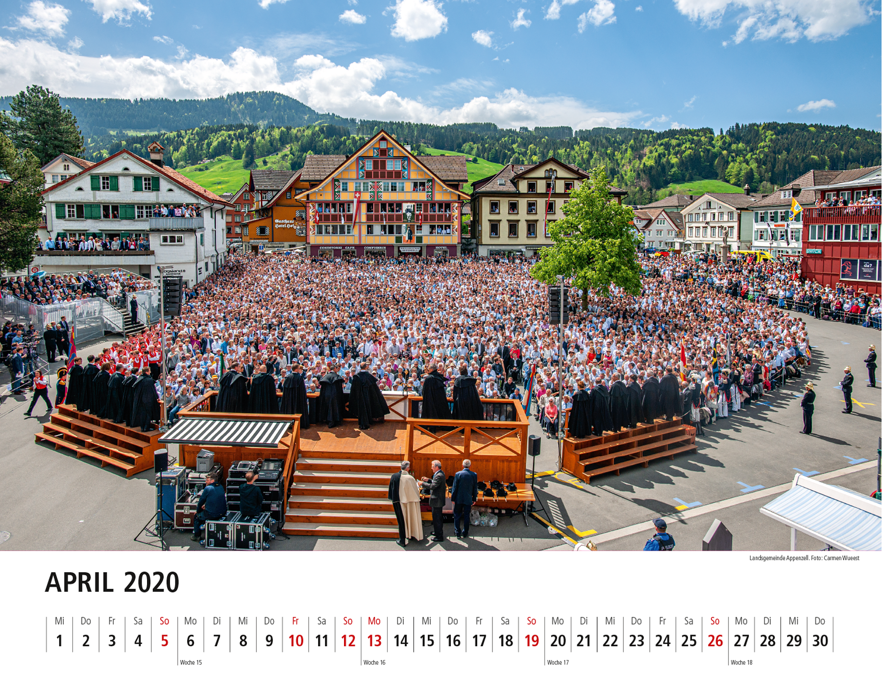 Appenzeller Bildkalender 2020 April