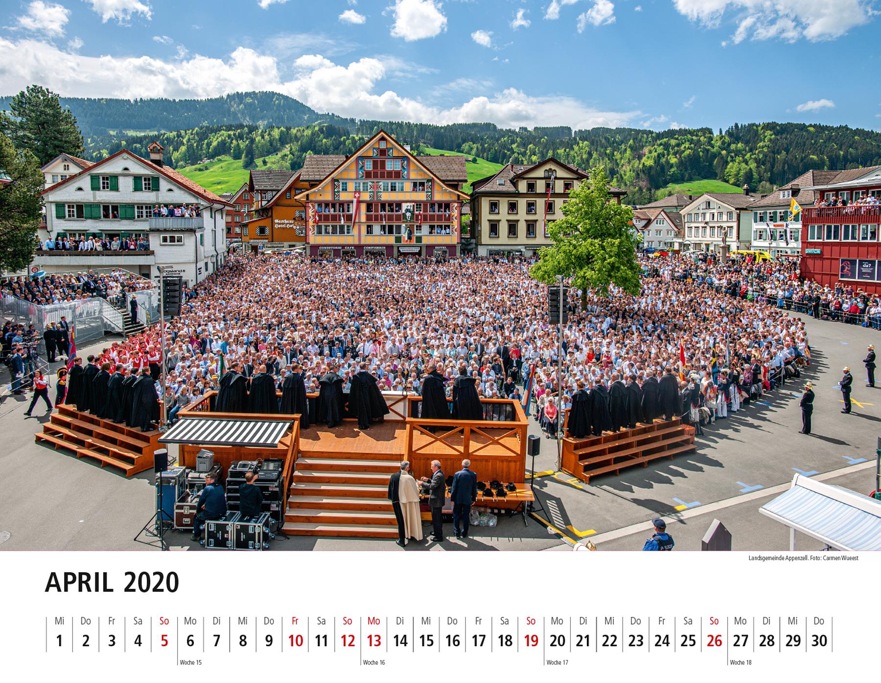 Appenzeller Bildkalender 2020 April