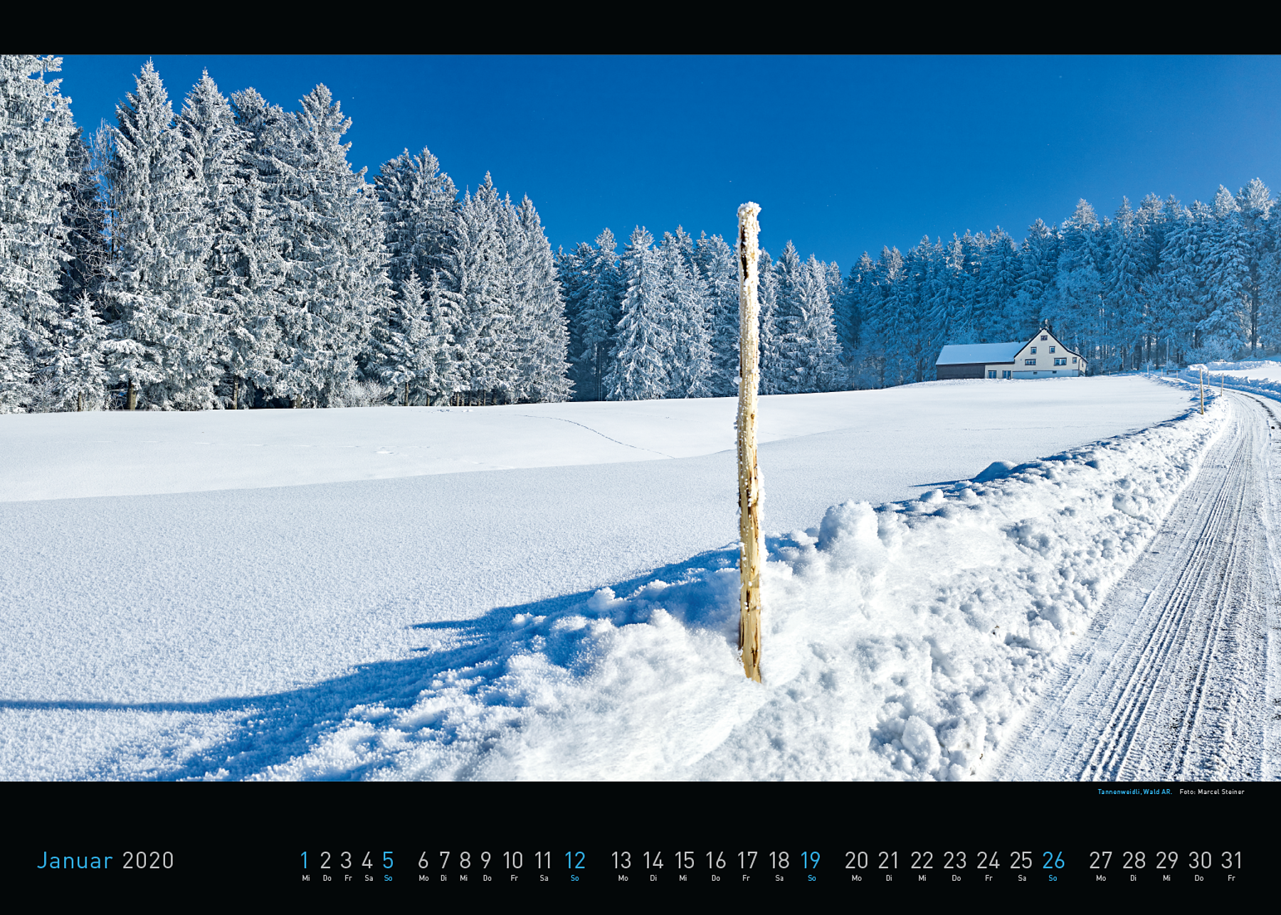 Panorama Appenzellerland 2020 Januar