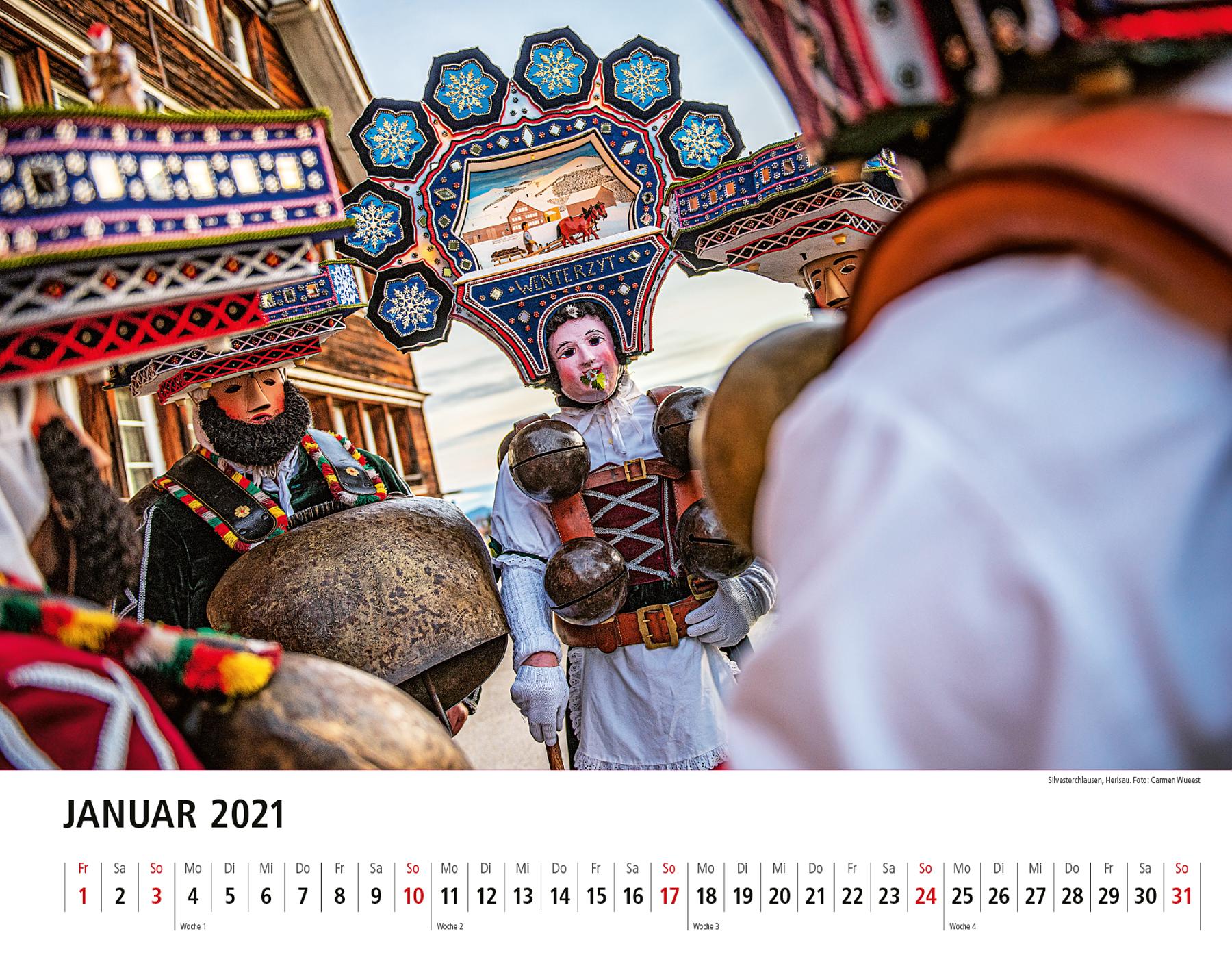 Appenzeller Bildkalender 2021 Januar