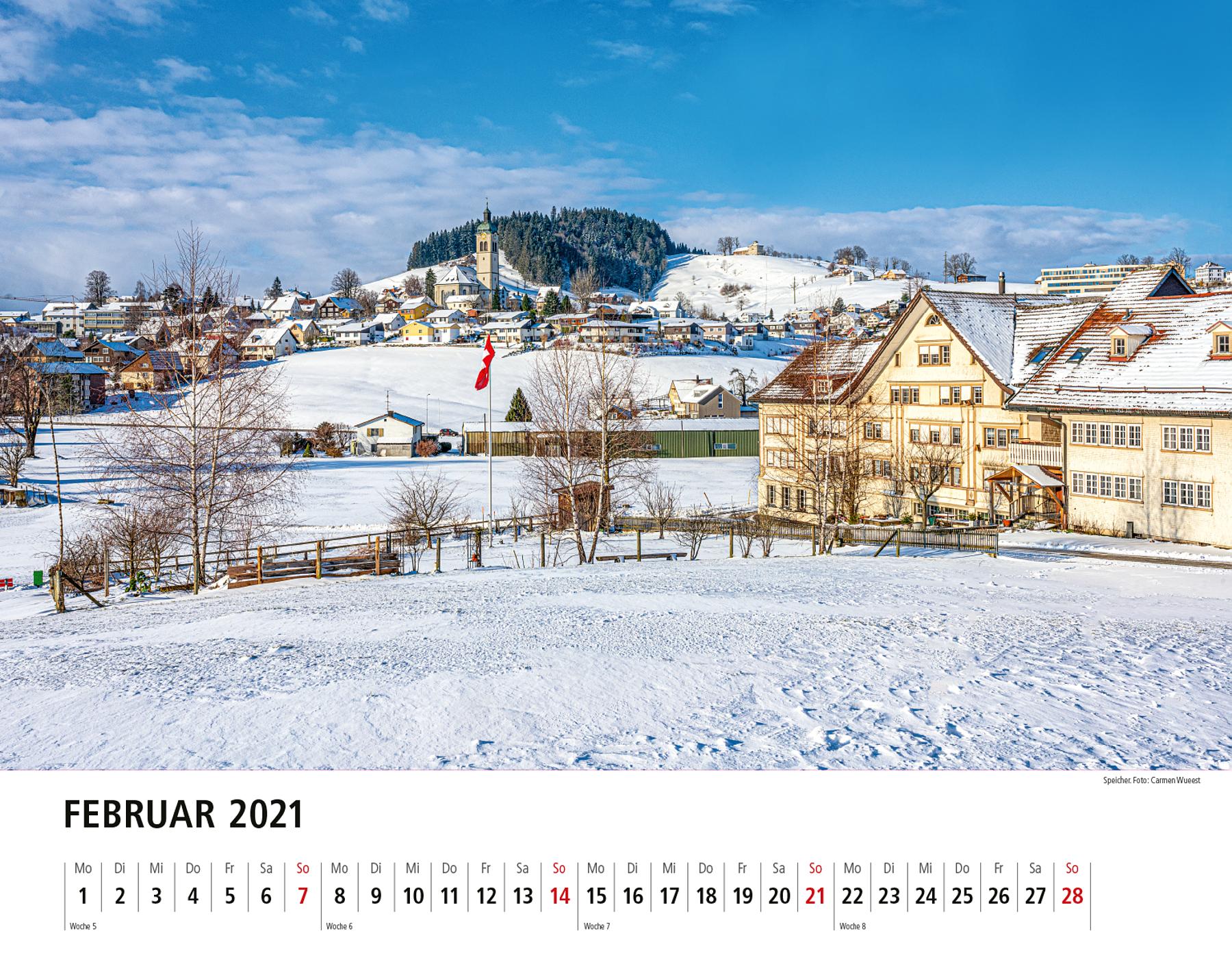 Appenzeller Bildkalender 2021 Februar