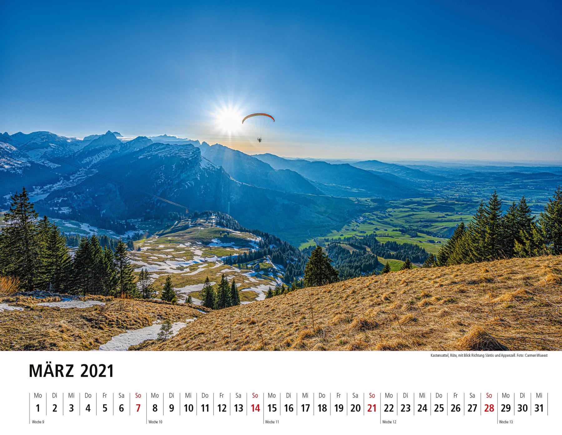 Appenzeller Bildkalender 2021 März