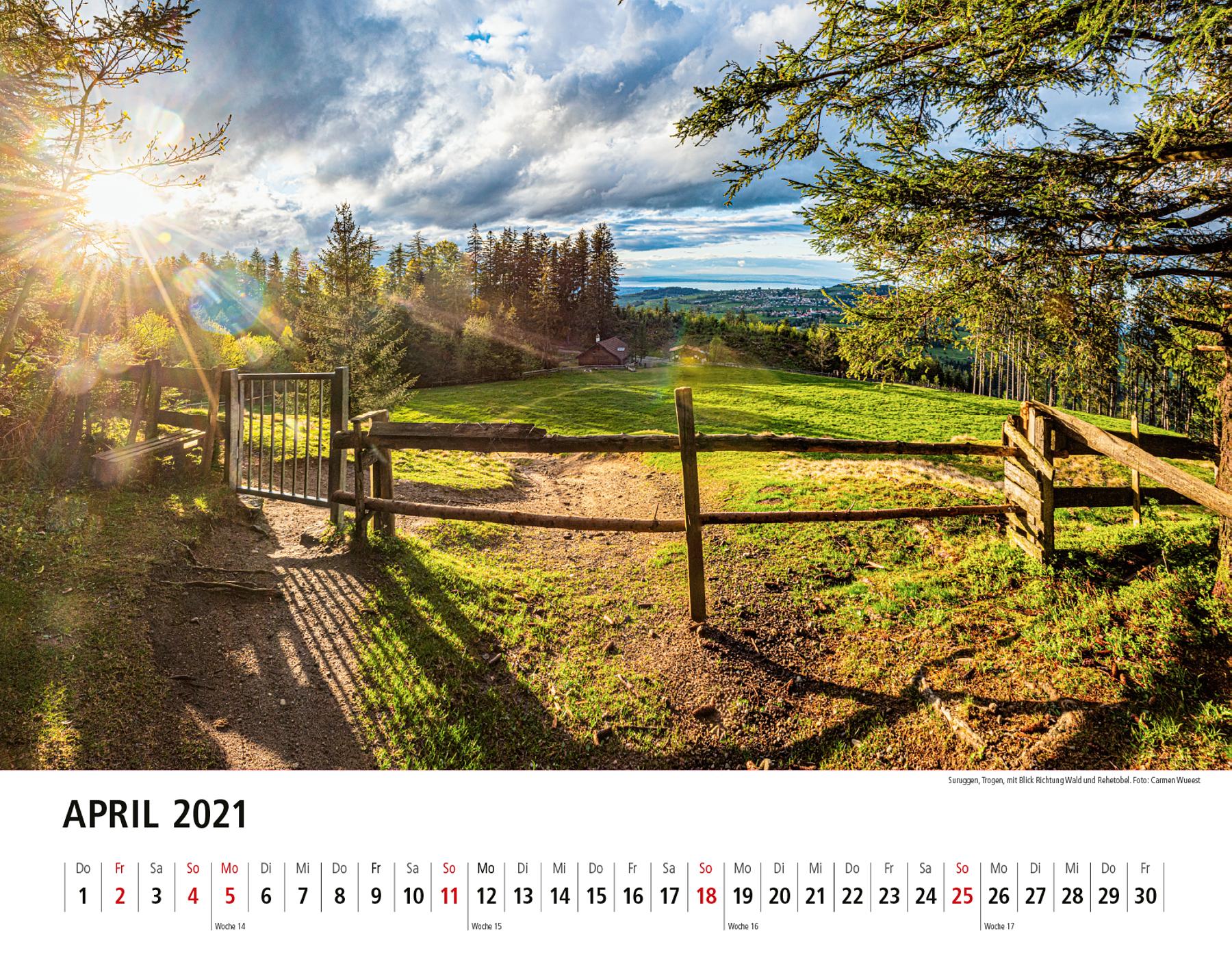 Appenzeller Bildkalender 2021 April