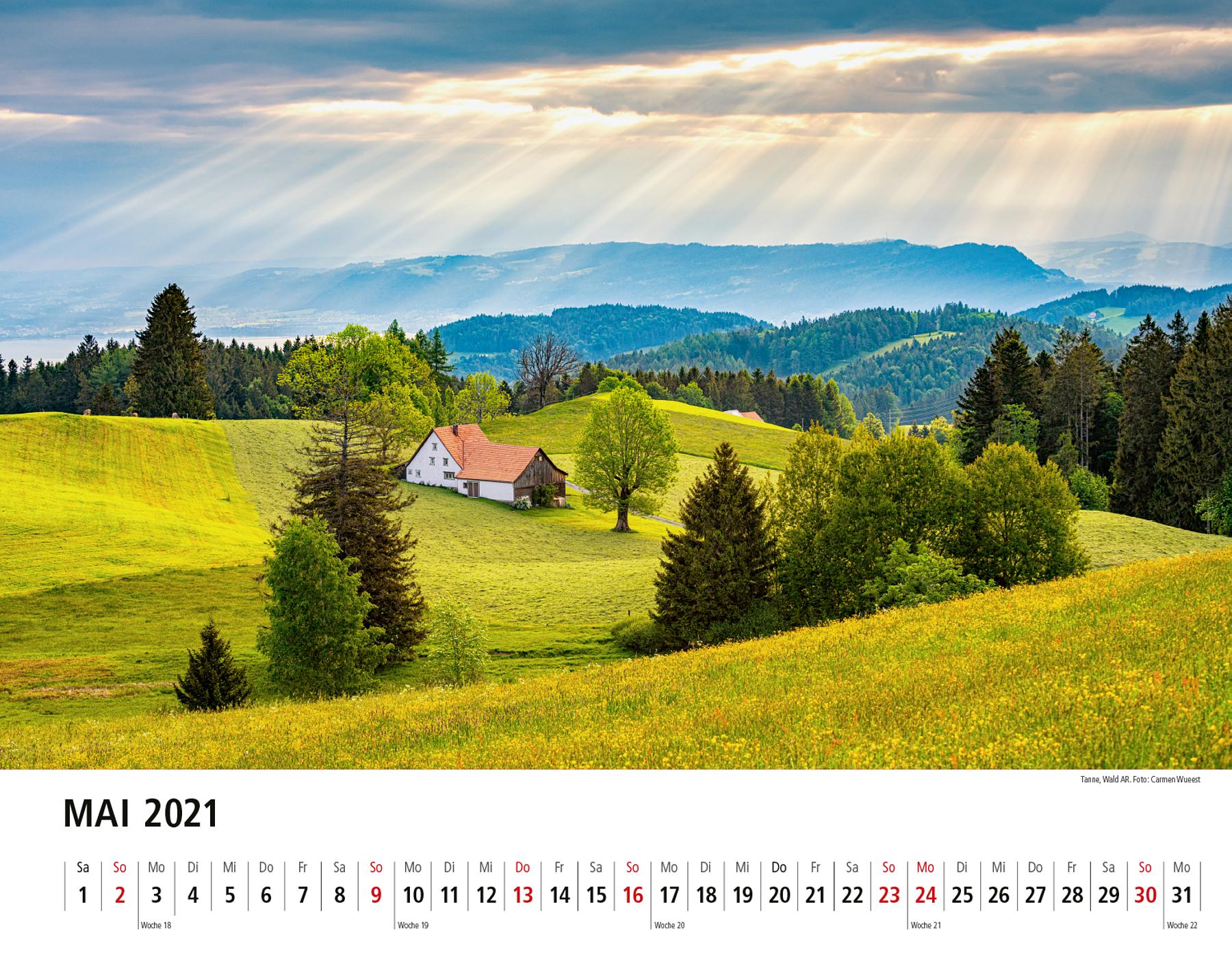 Appenzeller Bildkalender 2021 Mai