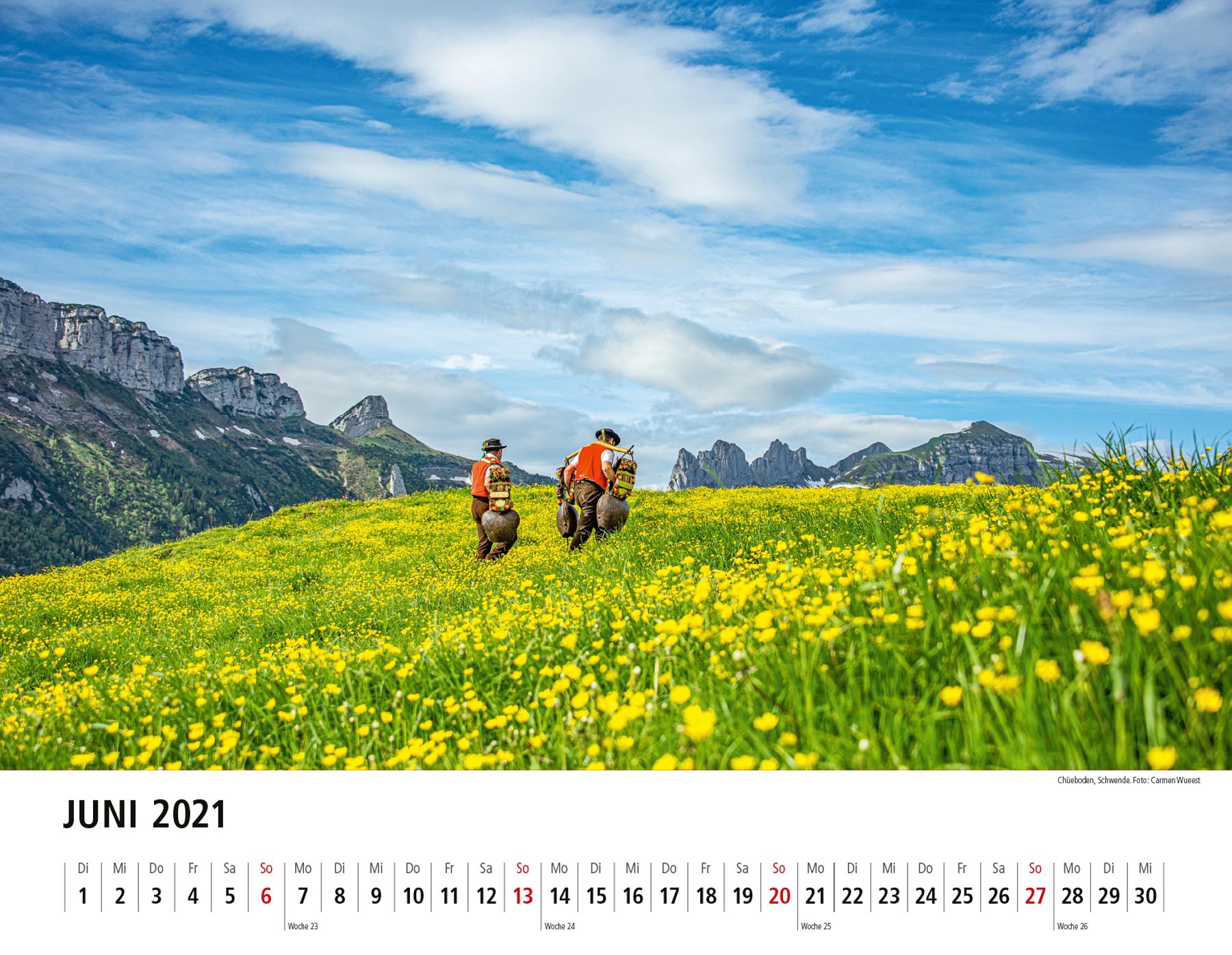 Appenzeller Bildkalender 2021 Juni