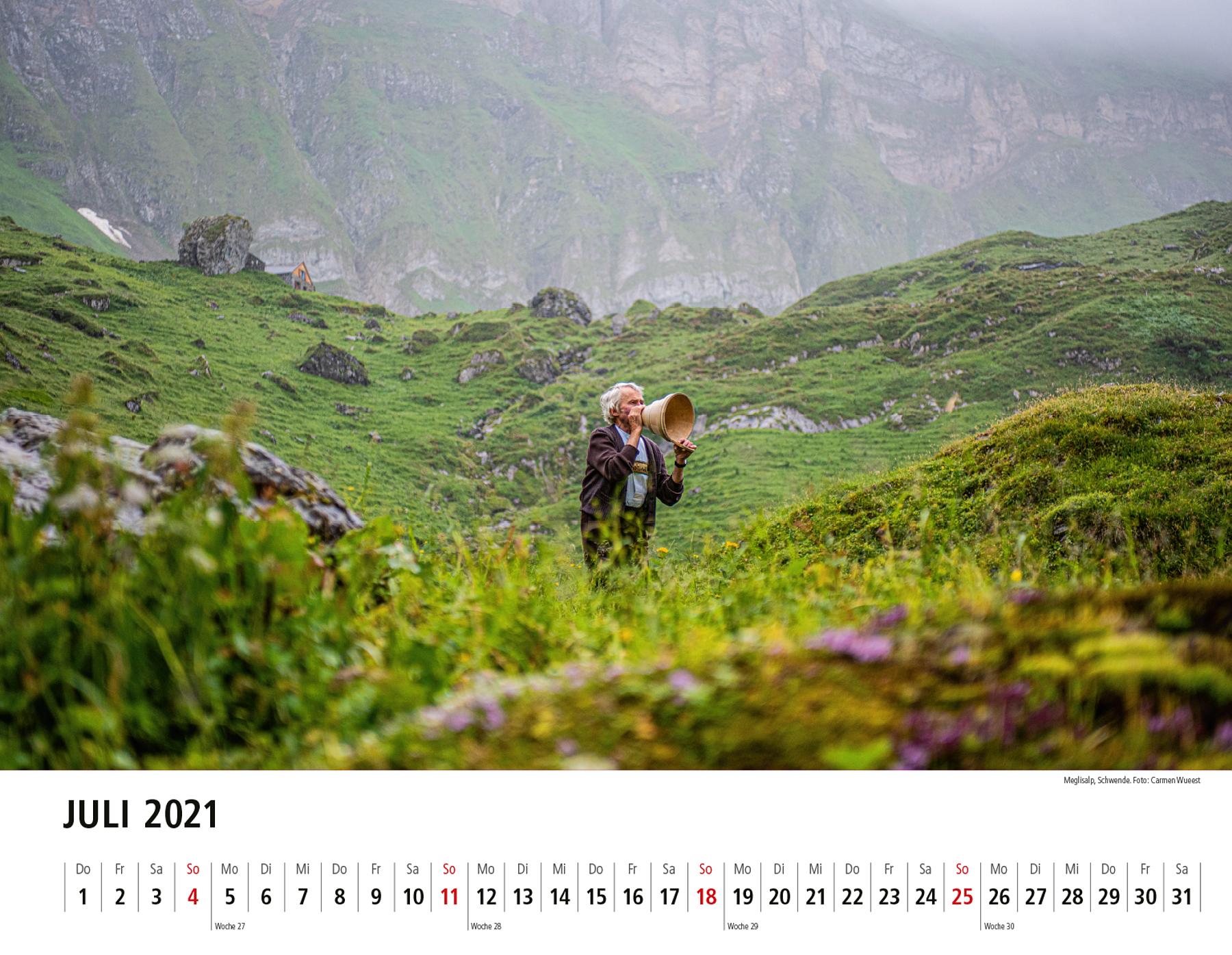 Appenzeller Bildkalender 2021 Juli