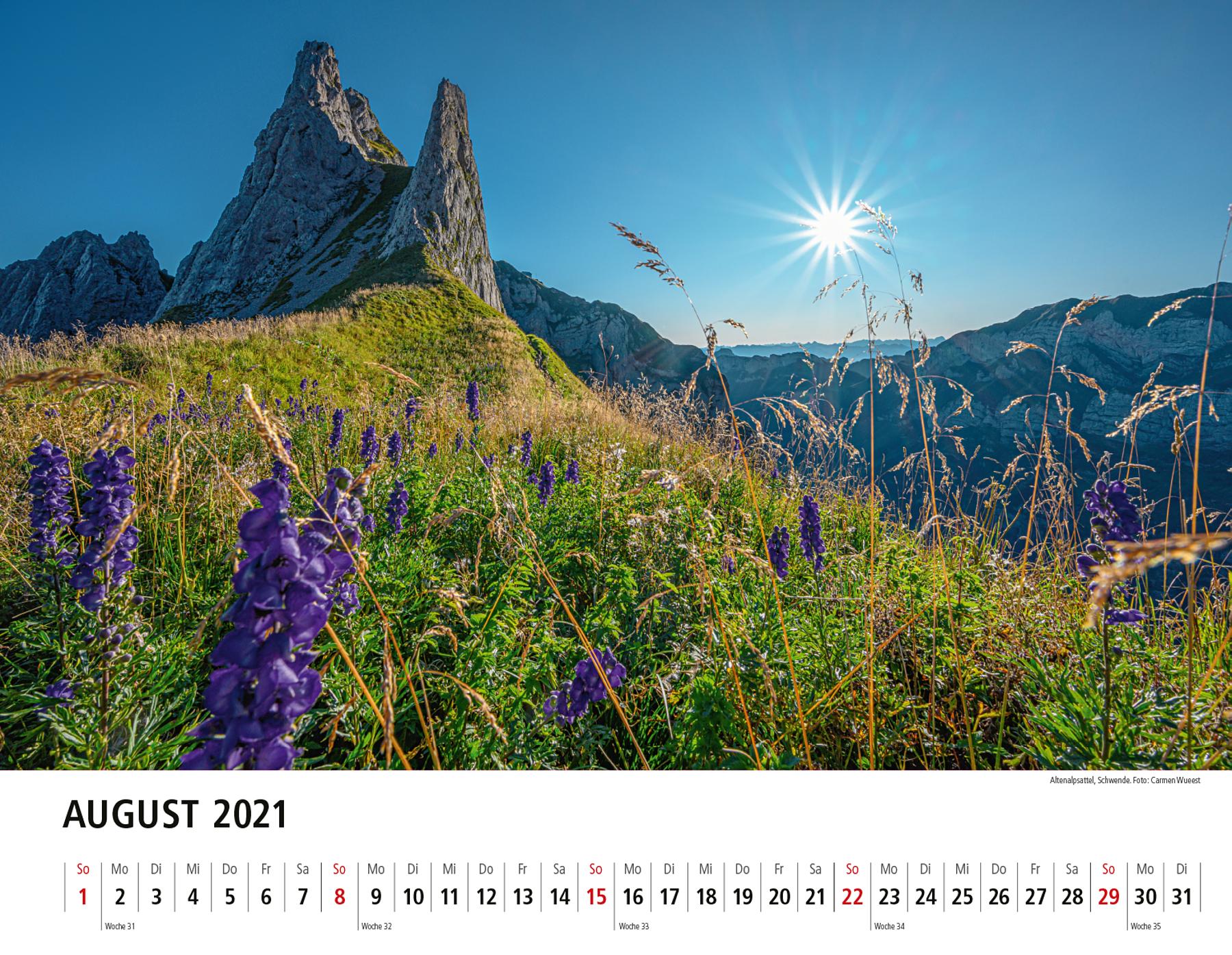 Appenzeller Bildkalender 2021 August