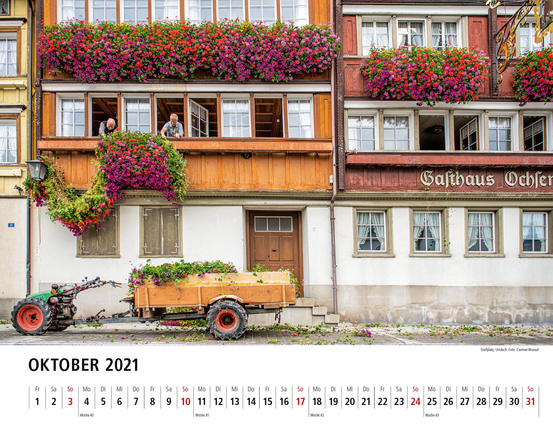Appenzeller Bildkalender 2021 Oktober