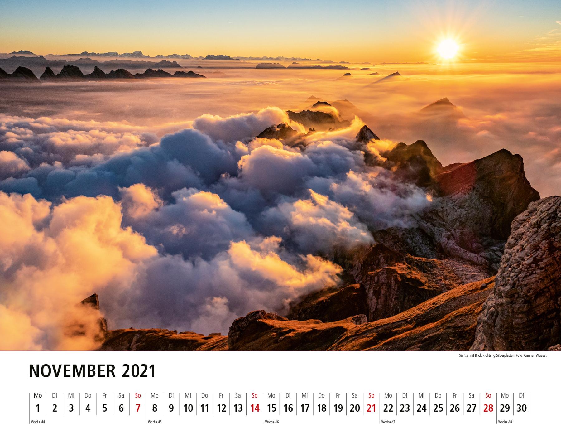 Appenzeller Bildkalender 2021 November