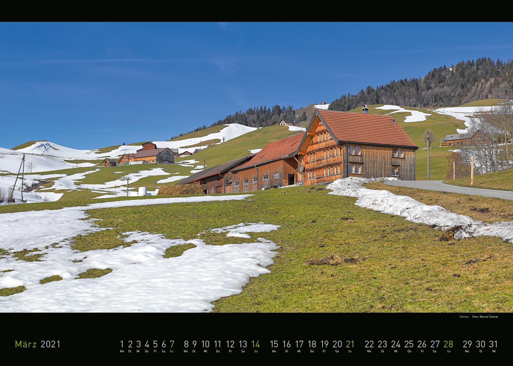 Panorama Appenzellerland 2021 März