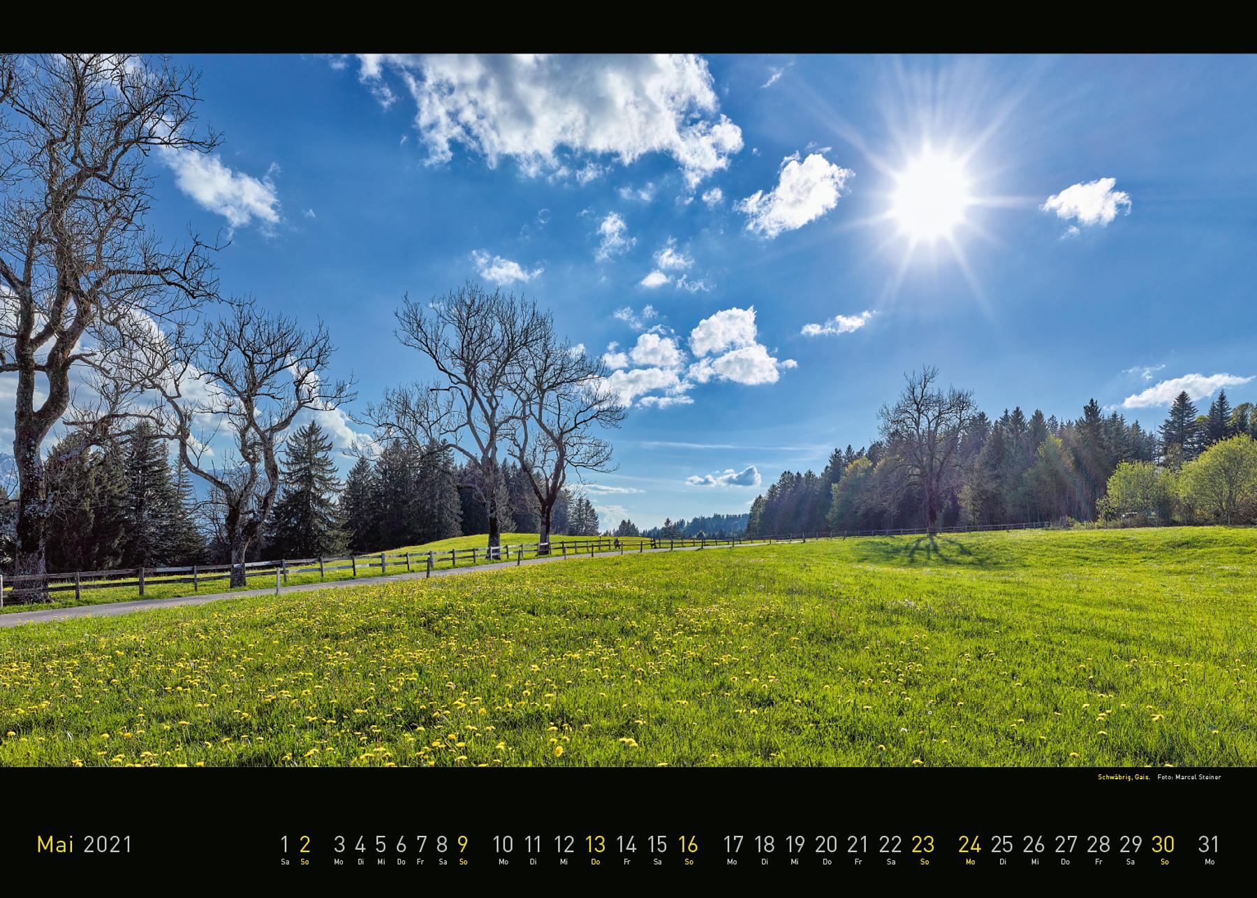 Panorama Appenzellerland 2021 Mai