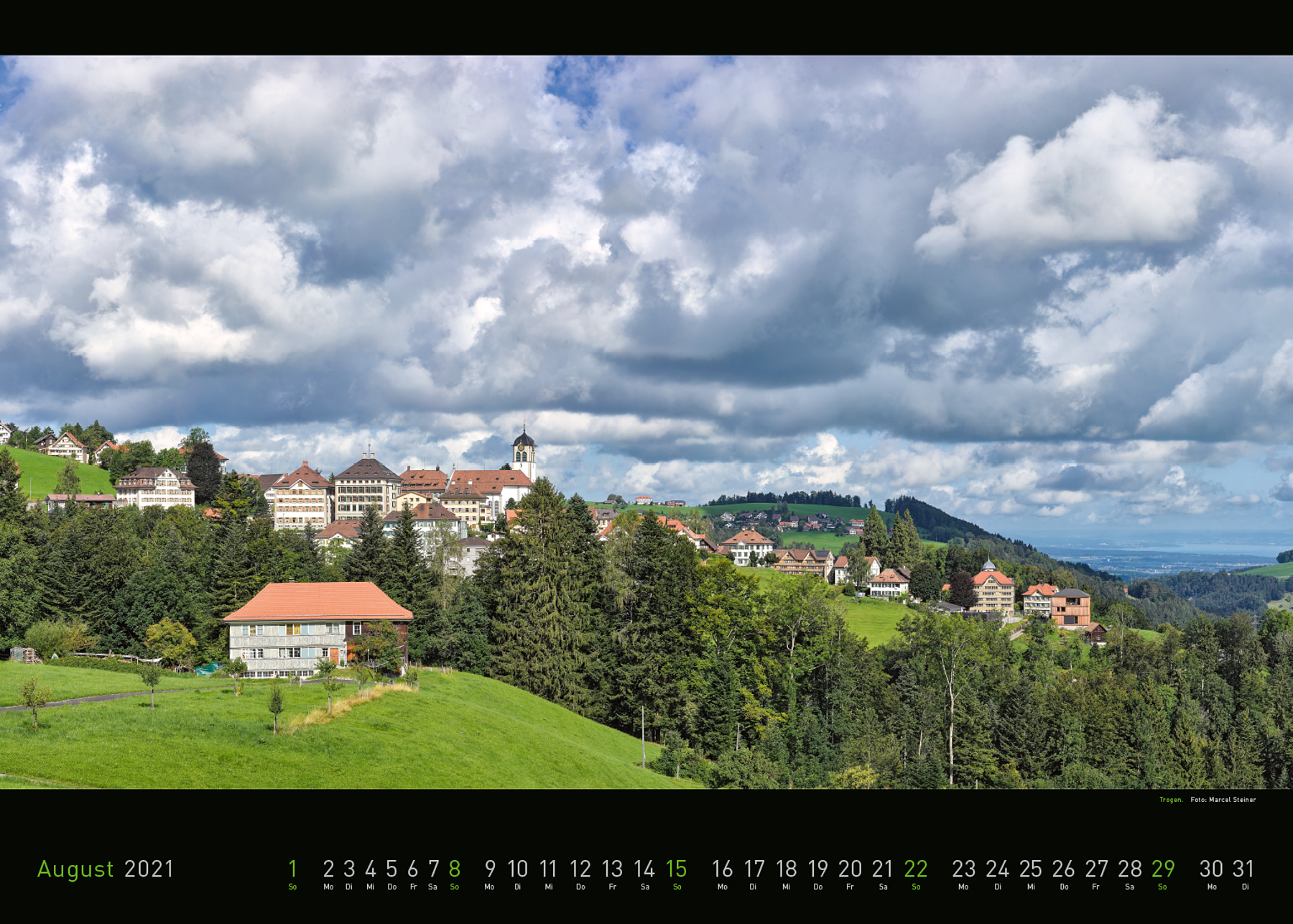 Panorama Appenzellerland 2021 August