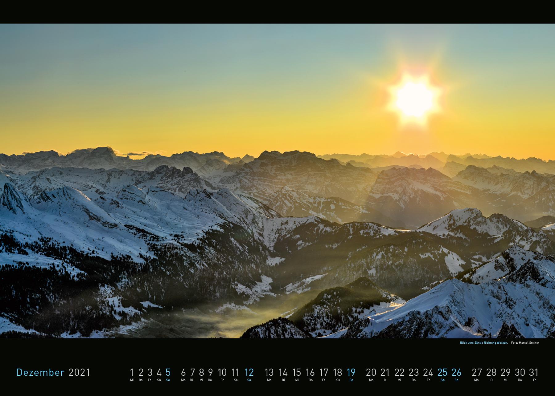 Panorama Appenzellerland 2021 Dezember