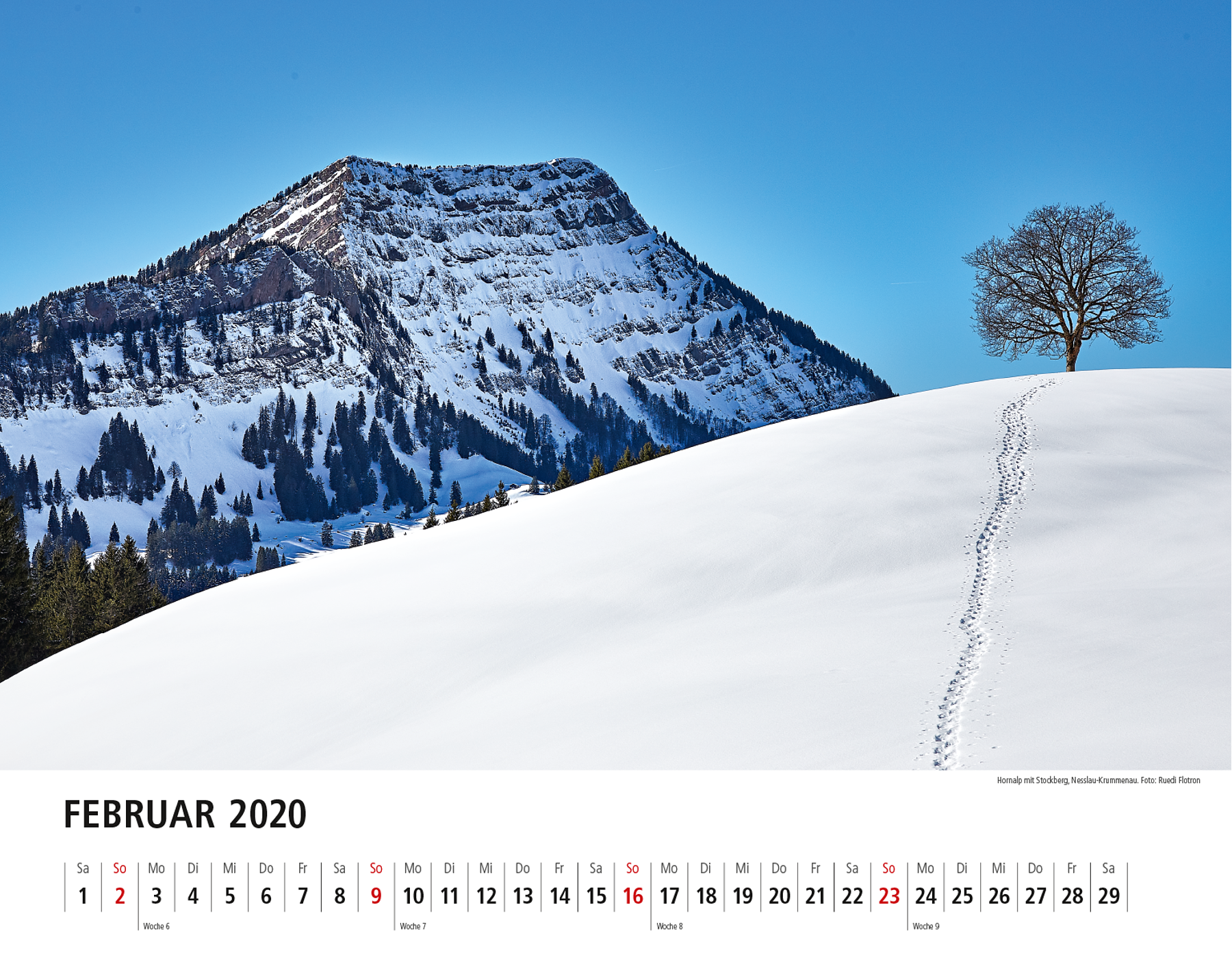 Toggenburger Bildkalender 2020 Februar