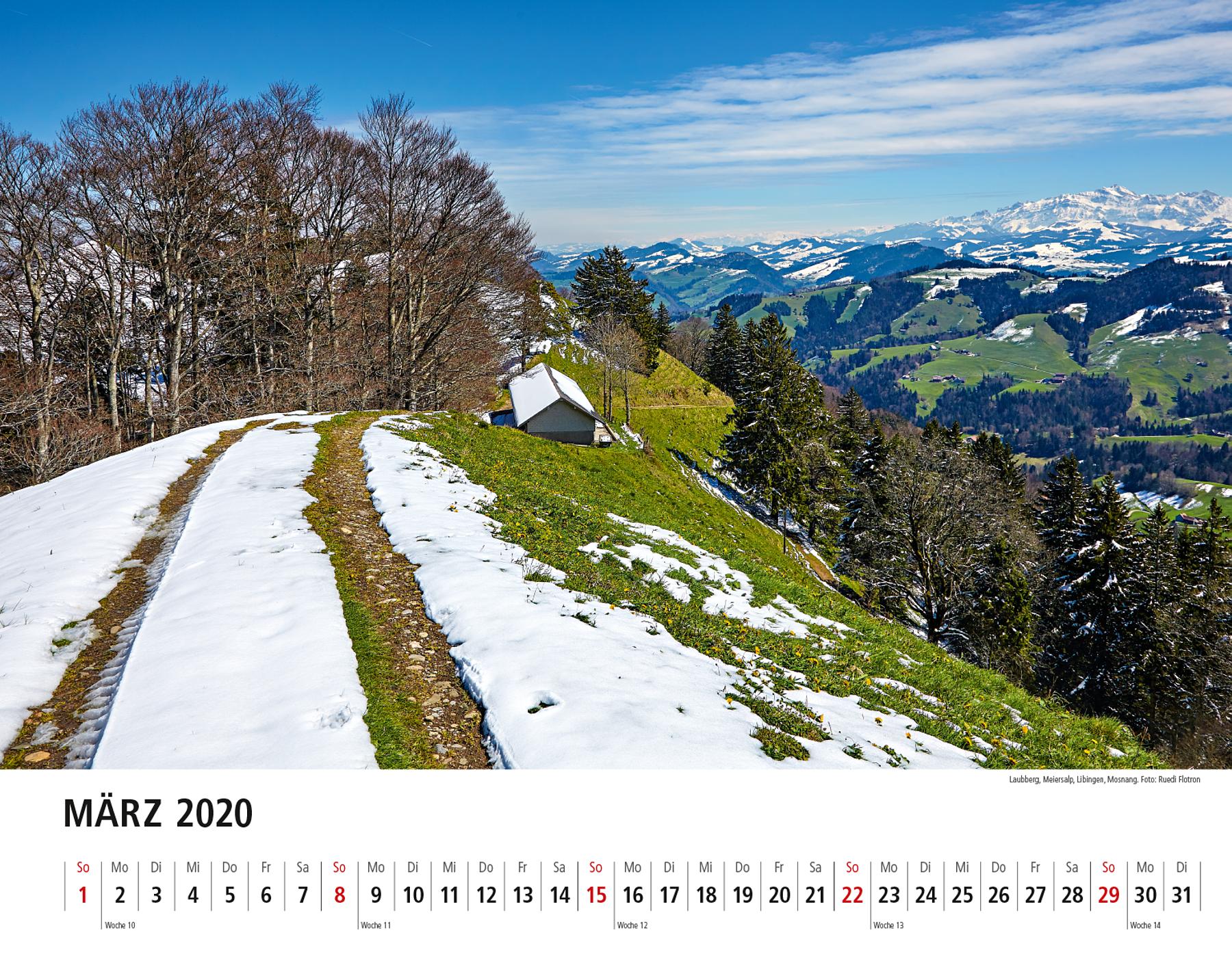 Toggenburger Bildkalender 2020 März