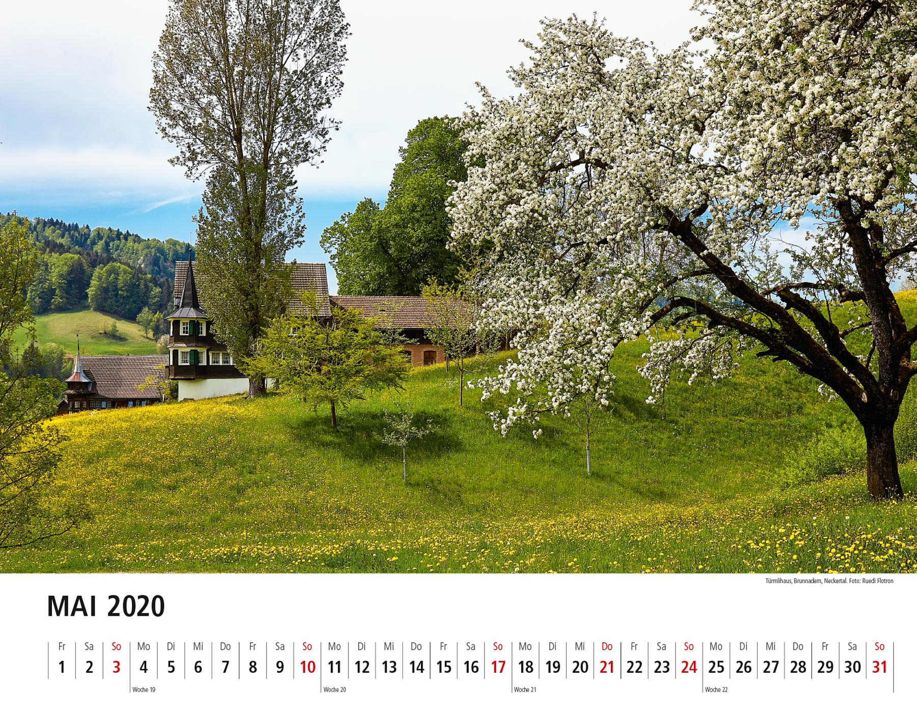 Toggenburger Bildkalender 2020 Mai
