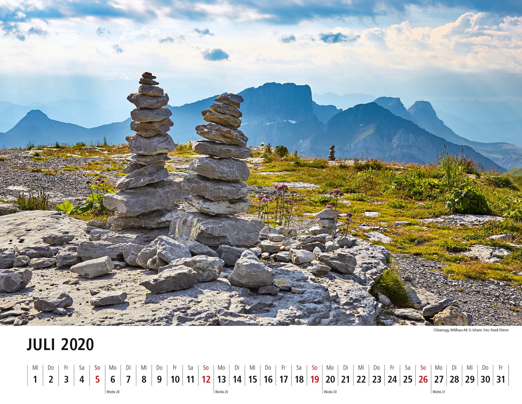 Toggenburger Bildkalender 2020 Juli