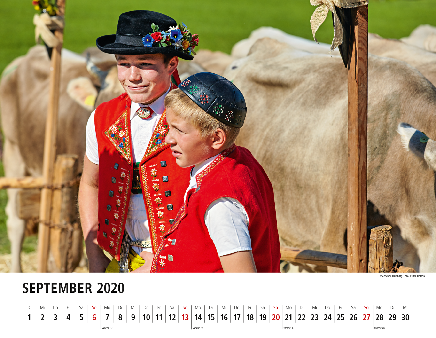 Toggenburger Bildkalender 2020 September