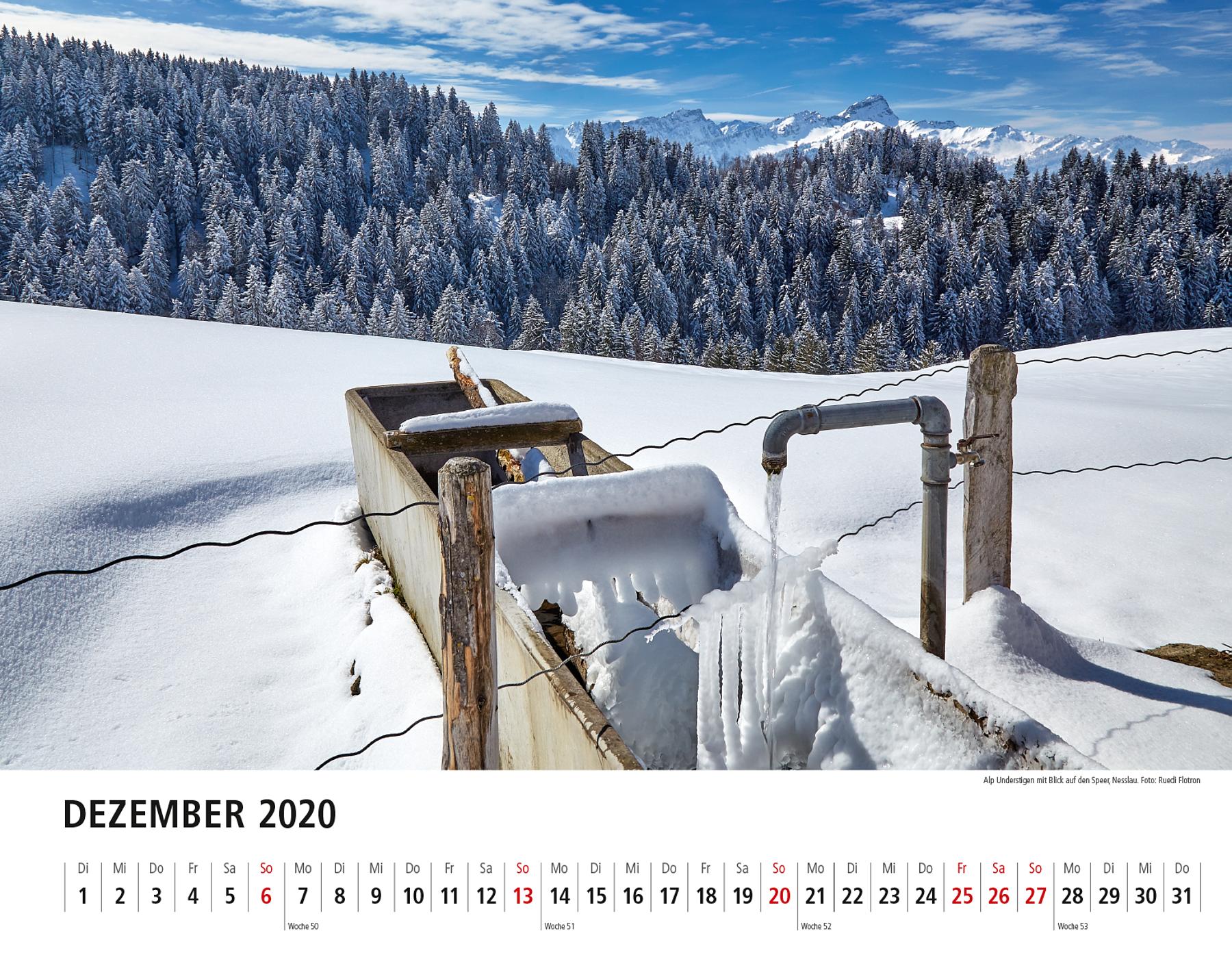 Toggenburger Bildkalender 2020 Dezember