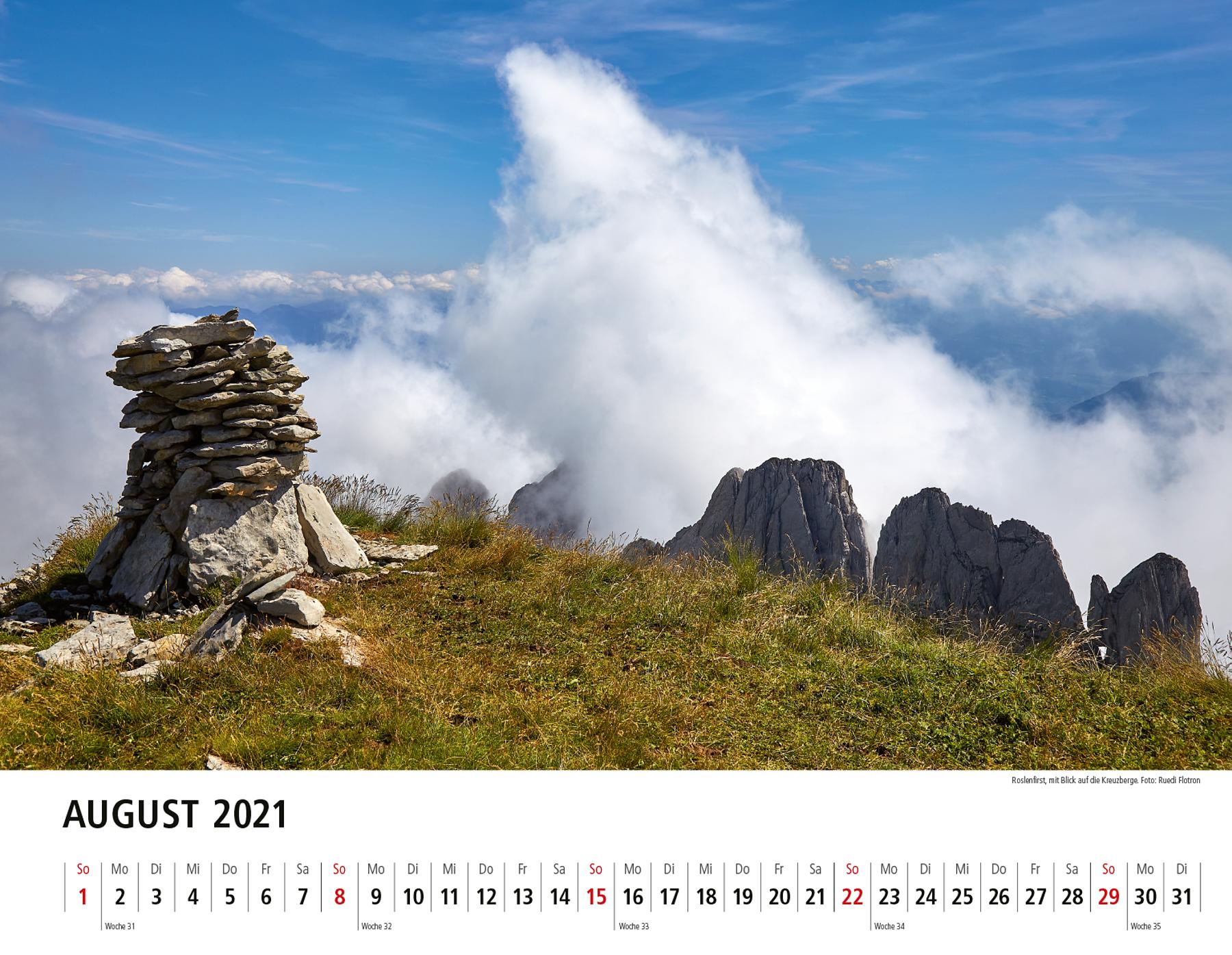 Toggenburger Bildkalender 2021 August