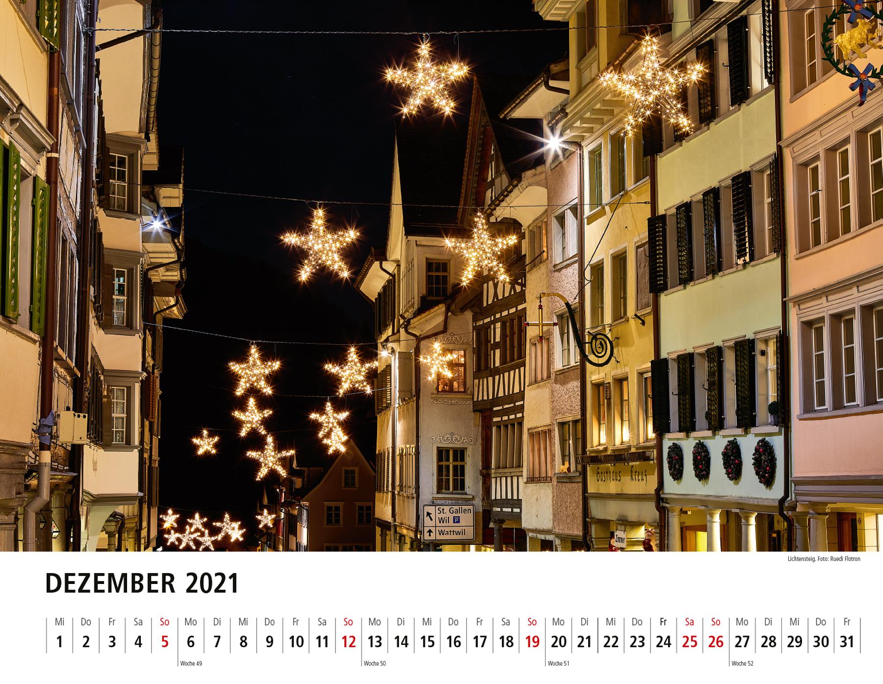 Toggenburger Bildkalender 2021 Dezember