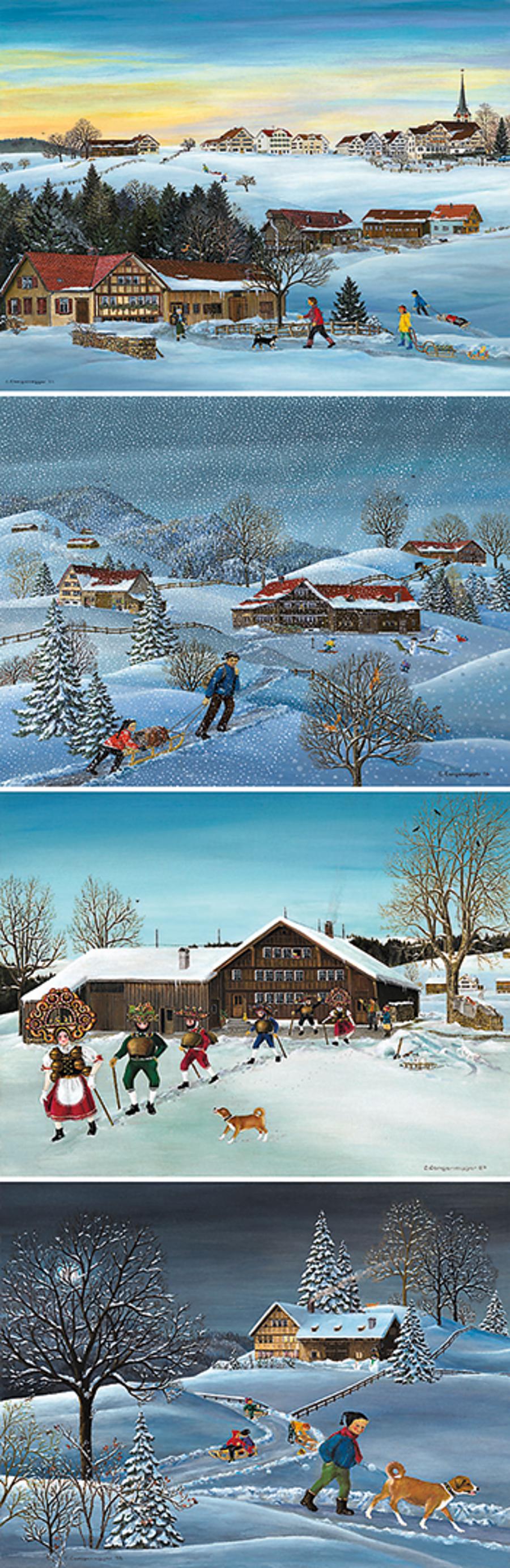 Kartenset Lilly Langenegger: Weihnachten/Neujahr