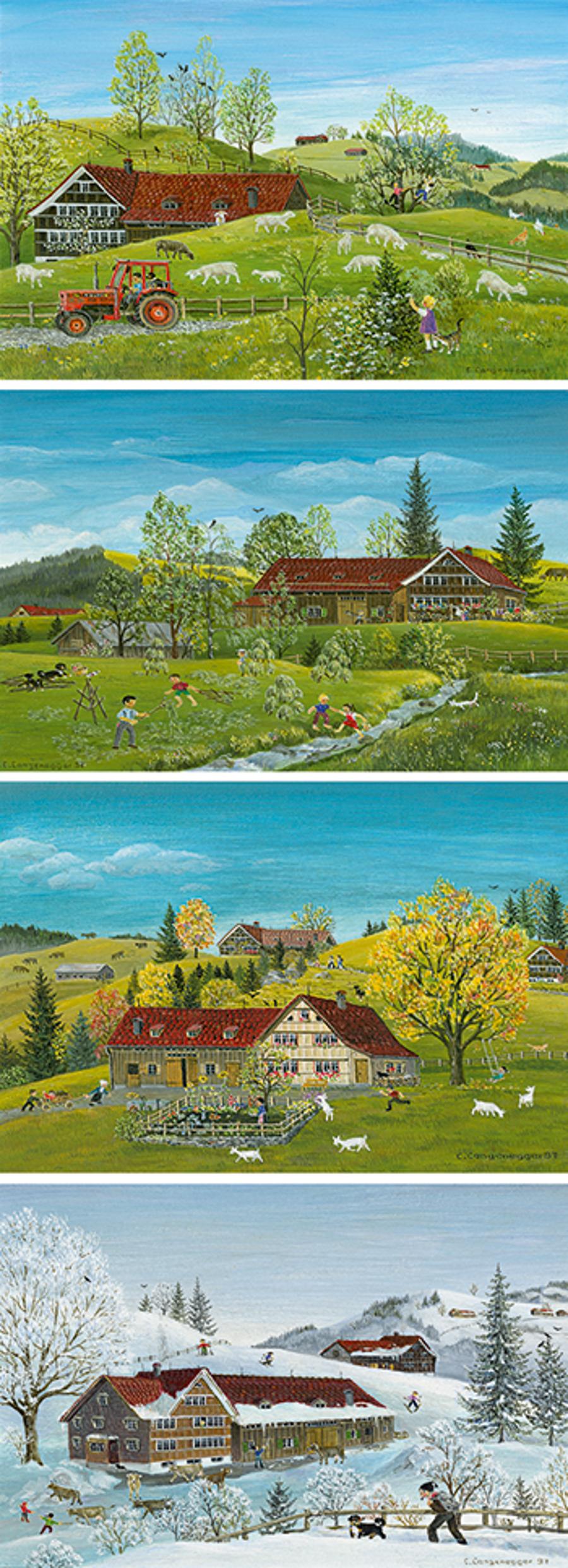 Kartenset Lilly Langenegger: Das Appenzellerland im Jahreslauf