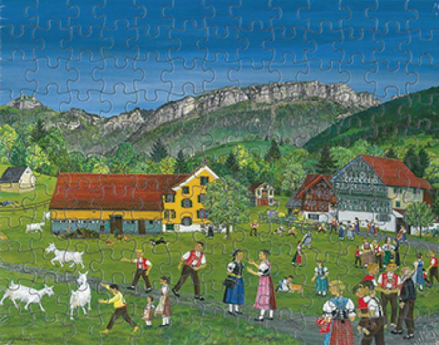 Puzzle Sommer/Trachten