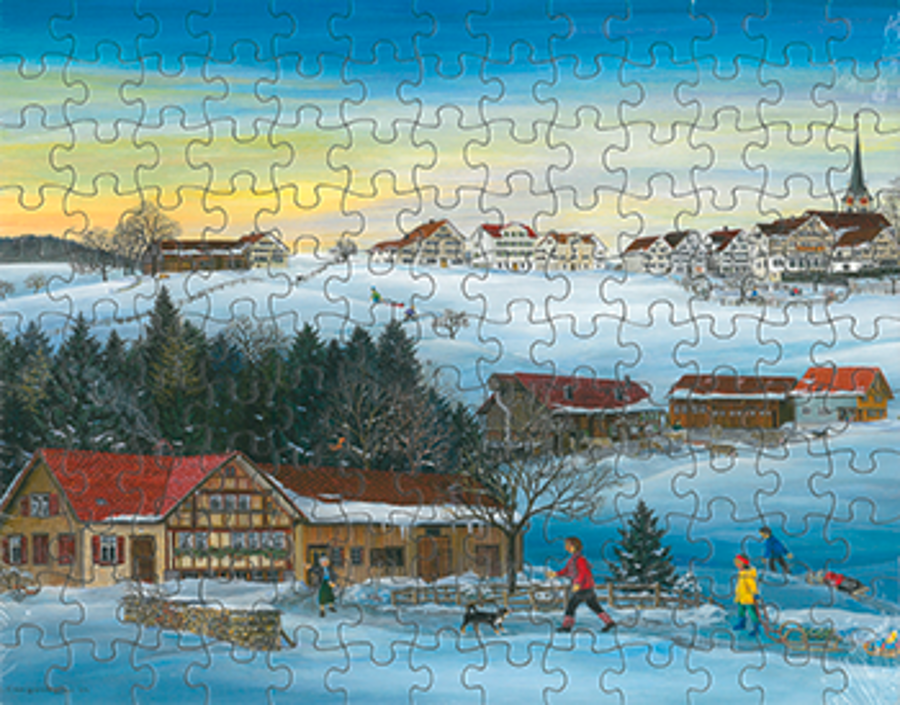 Puzzle Winter in Stein