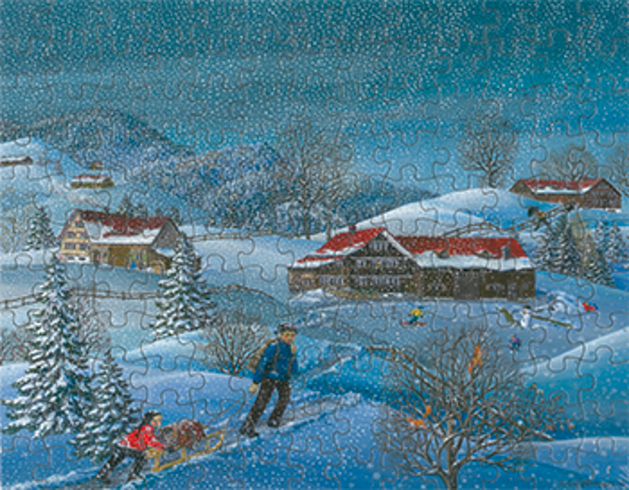 Puzzle Winter verschneit