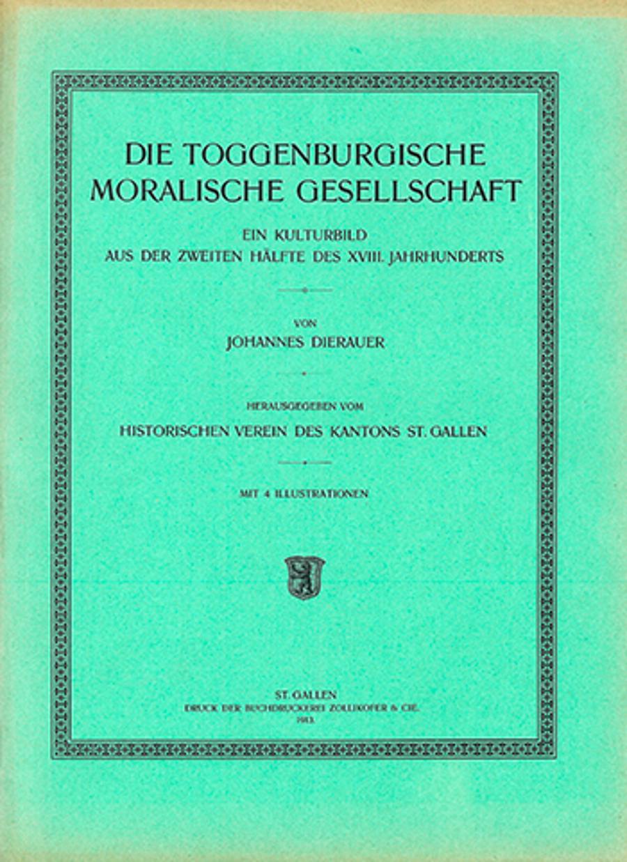 Die Toggenburgische Moralische Gesellschaft