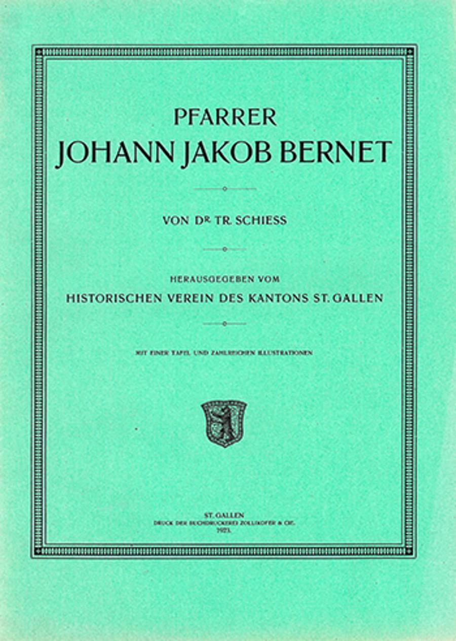Pfarrer Johann Jakob Bernet