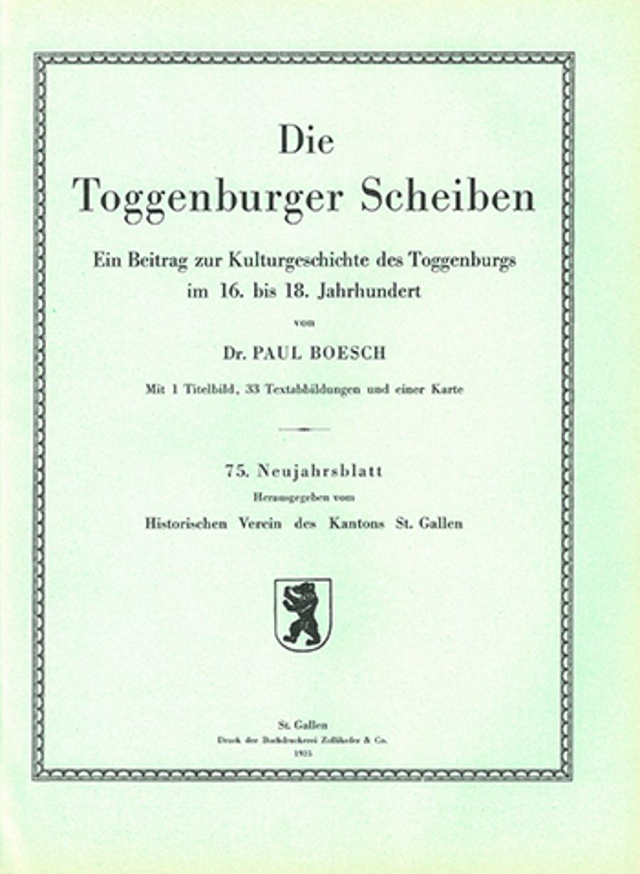 Die Toggenburger Scheiben