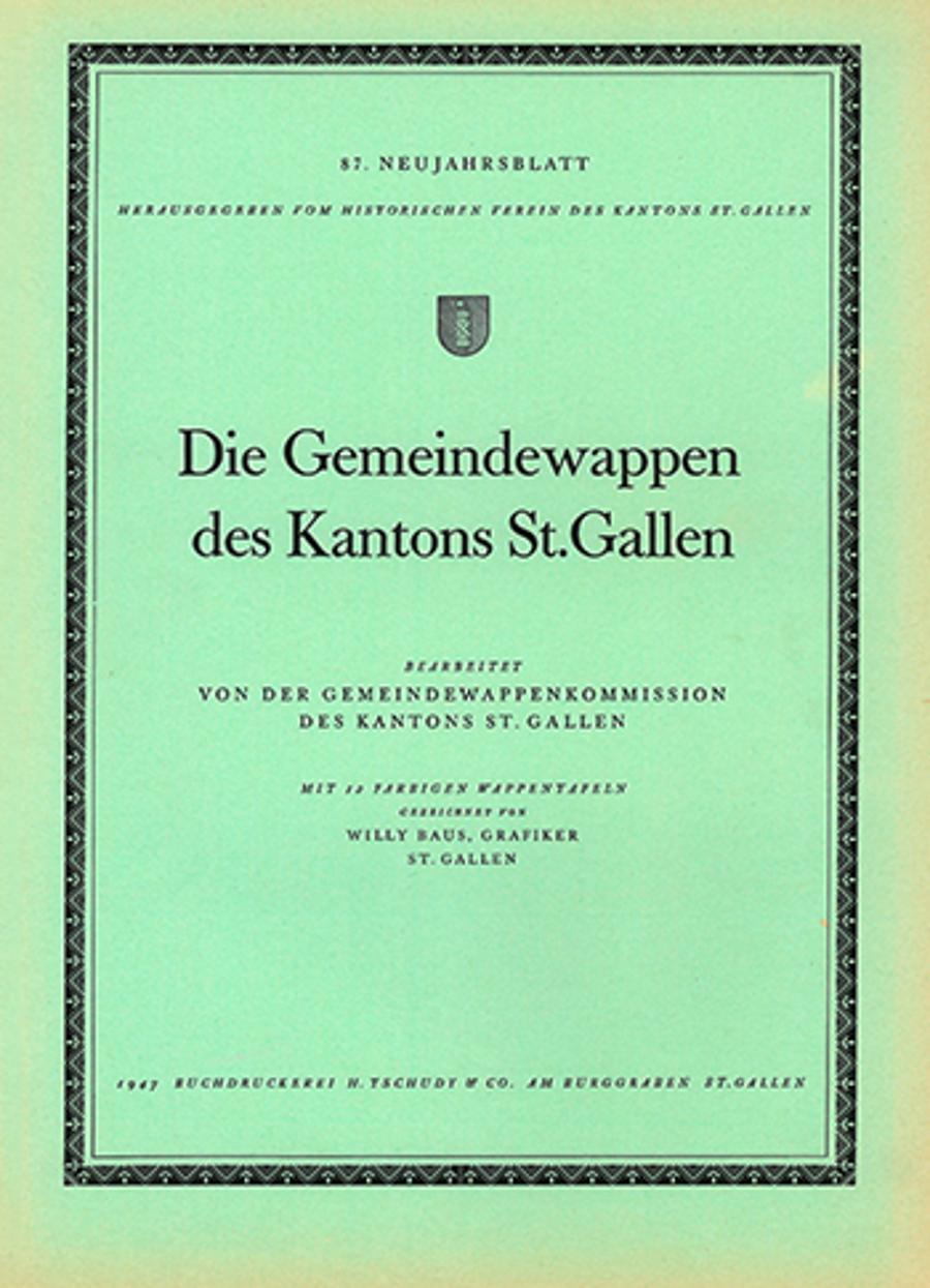 Die Gemeindewappen des Kantons St. Gallen