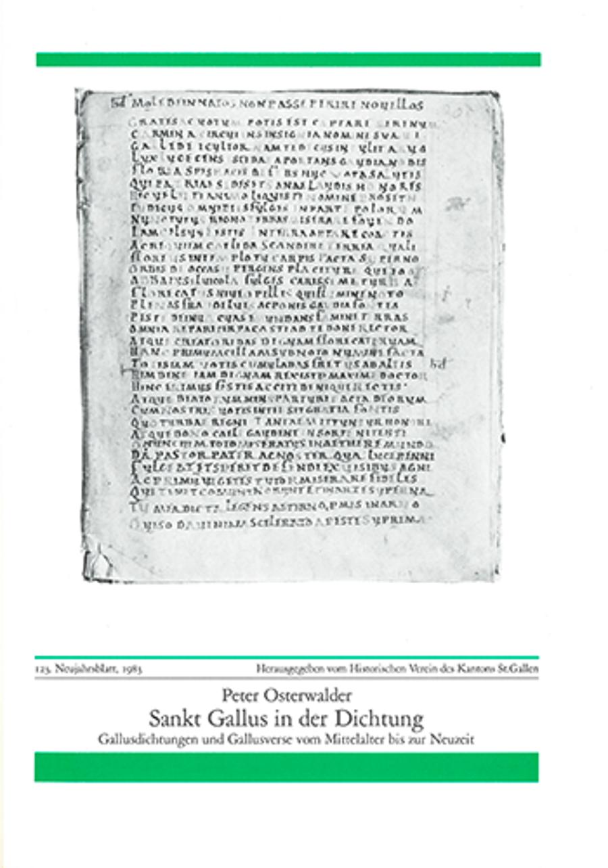 Sankt Gallus in der Dichtung