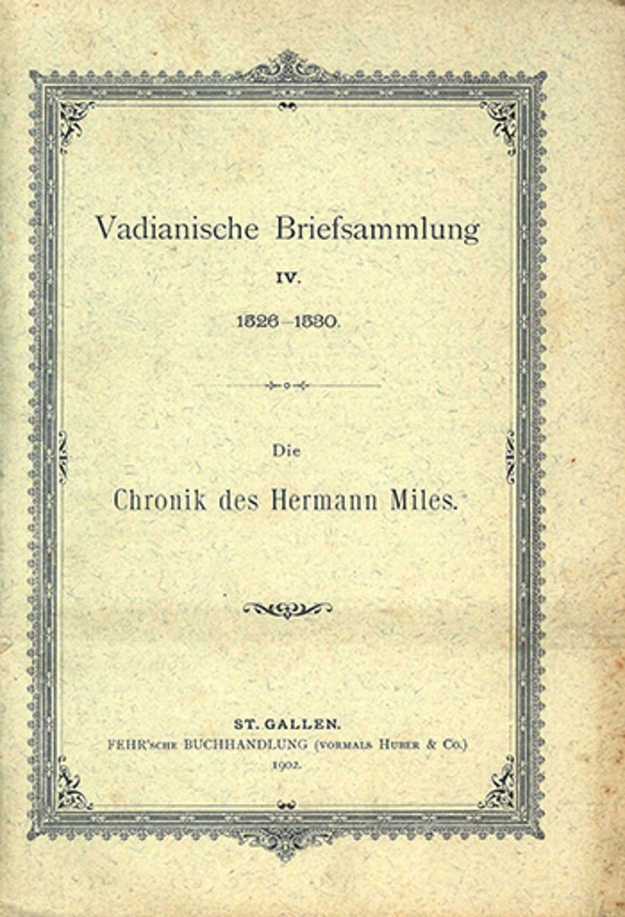 Vadianische Briefsammlung IV.  <p><p>1526-1530