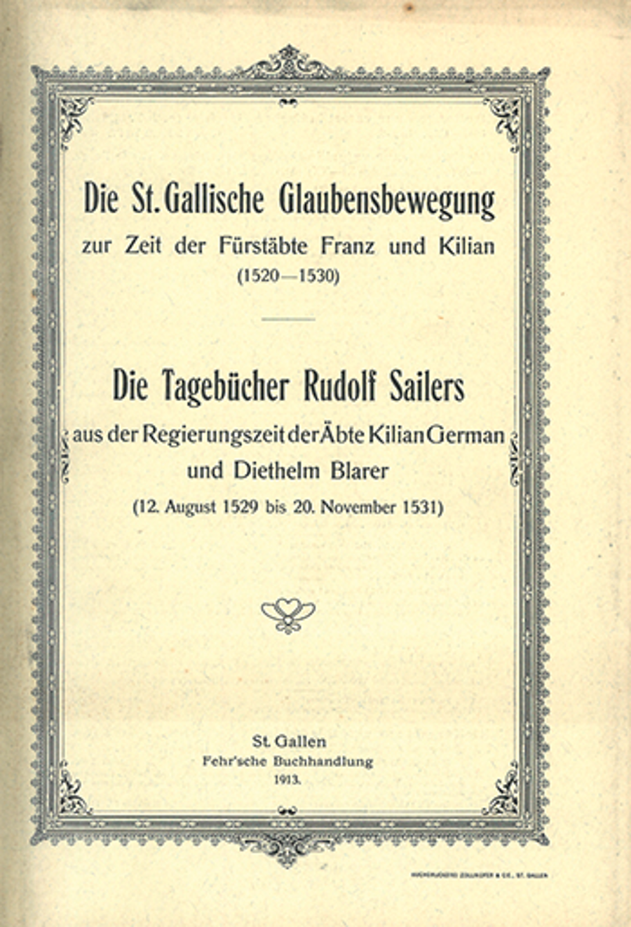 Die St. Gallische Glaubensbewegung