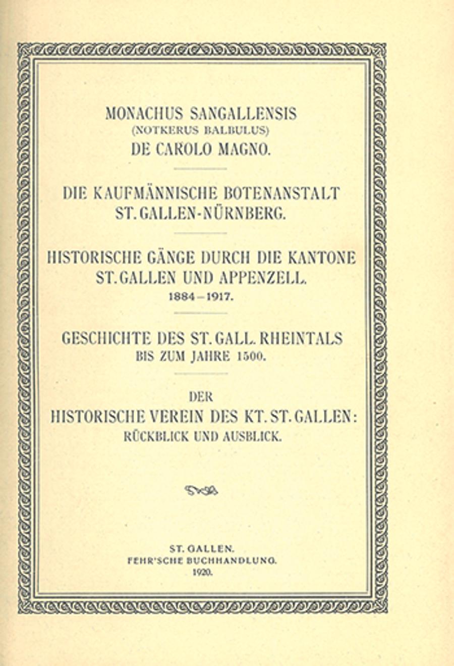 Monachus Sangallensis