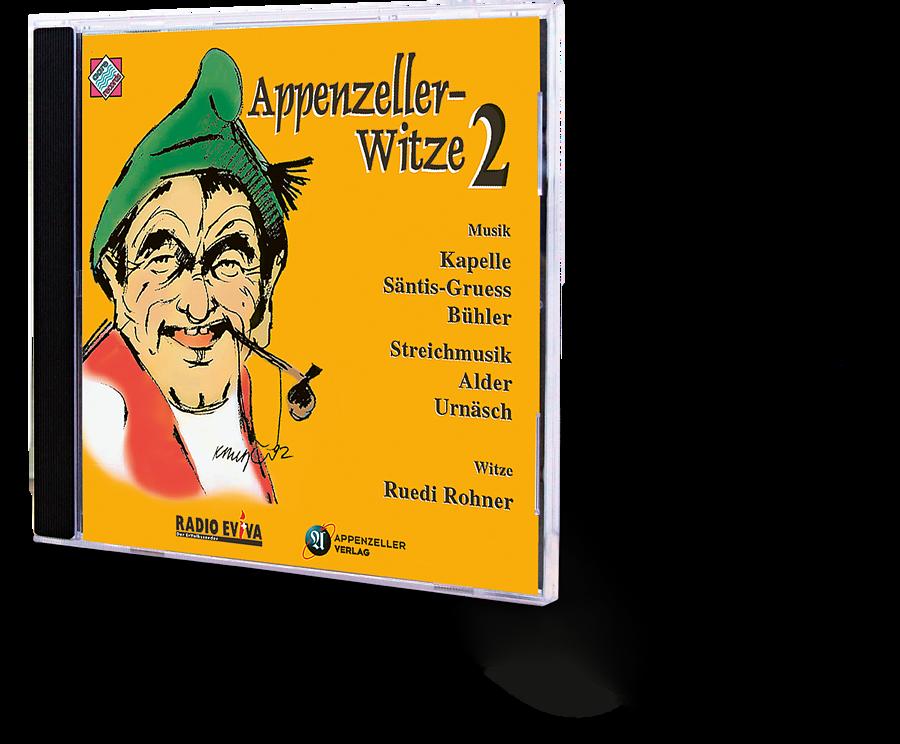 Appenzeller Witze 2. Kapelle Säntis-Gruess Bühler, Streichmusik Alder Urnäsch. Ruedi Rohner Witze. CD.