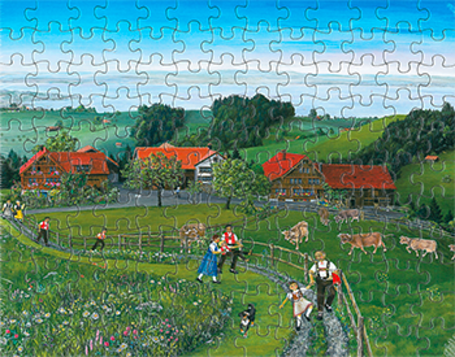 Puzzle Frühling Bodensee