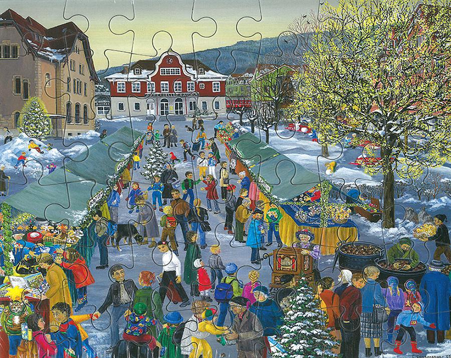 Puzzle Weihnachtsmarkt