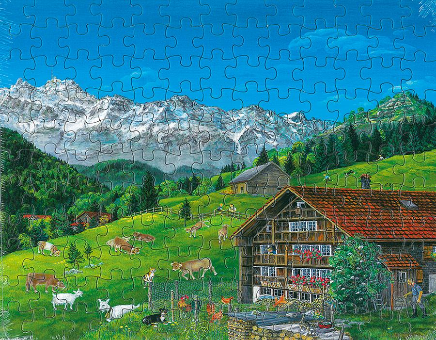 Puzzle Hoftiere mit Säntis