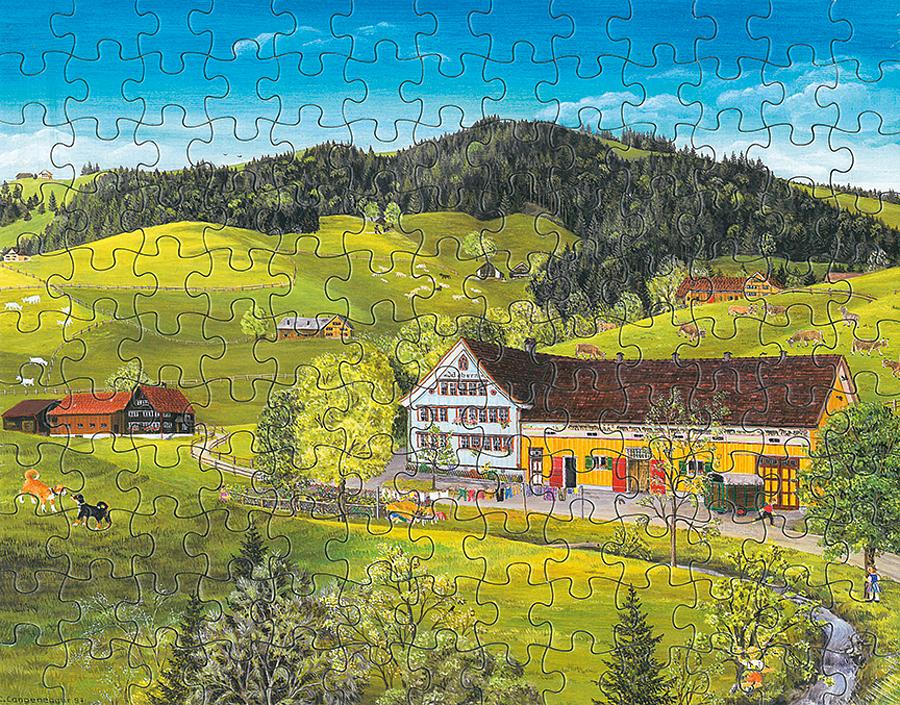 Puzzle Kinder-Hunde beim Spielen