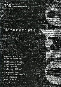 Nr. 106: Manuskripte